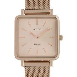 OOZOO Vintage - C9847, Rose Gold case with Metal Strap