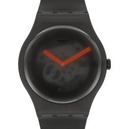 SWATCH Black Blur - SUOB183, Black case with Black Rubber Strap