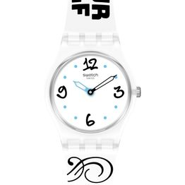 SWATCH Bluefeather - LW171, Transparent case with Multicolor Rubber Strap