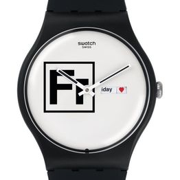 SWATCH Fritz - SUOB722 Black case, with Black Rubber Strap