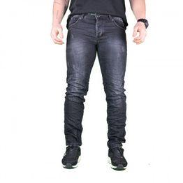 Ανδρικό Τζιν Παντελόνι Μαύρο με ξεθώριασμα y1619