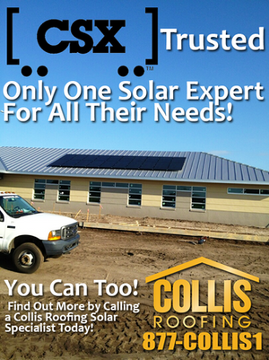CSX uses Collis Roofing for the Solar Energy needs!