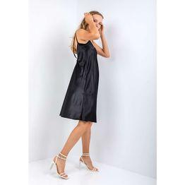 Μίντι φόρεμα με υφή σατέν