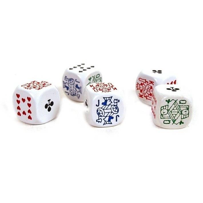 Set de 6 dés Poker