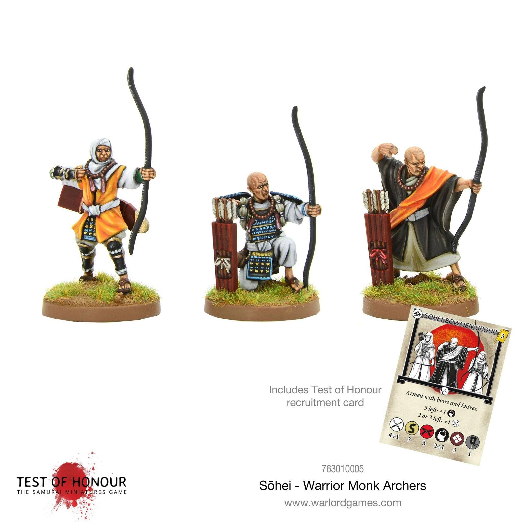 Test of Honour - Sohei warrior monk archers
