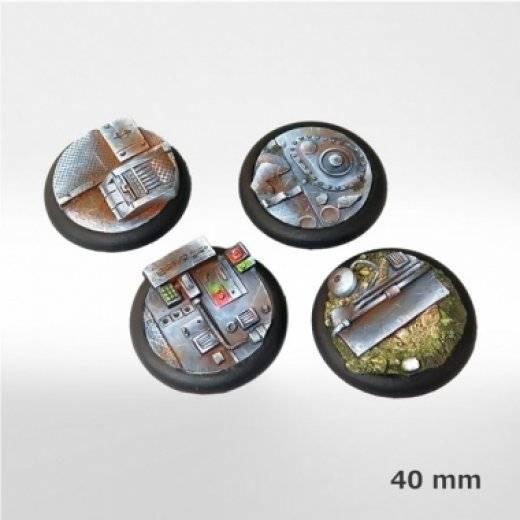 Eden - accessoires - Socles plastique décorés 40mm * 4