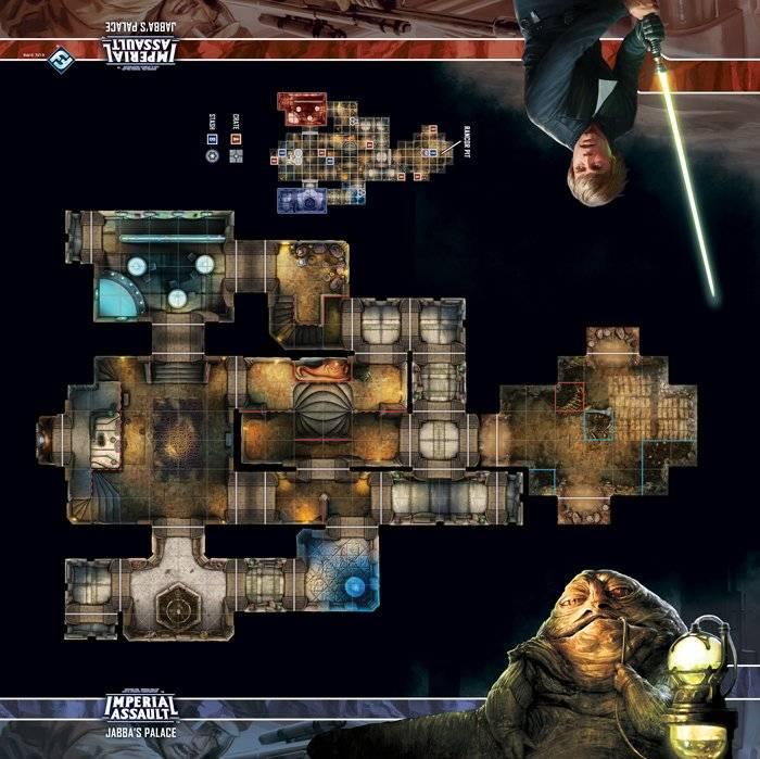 Tapis d'escarmouche : Le palais de Jabba (SW Assaut sur l'empire)