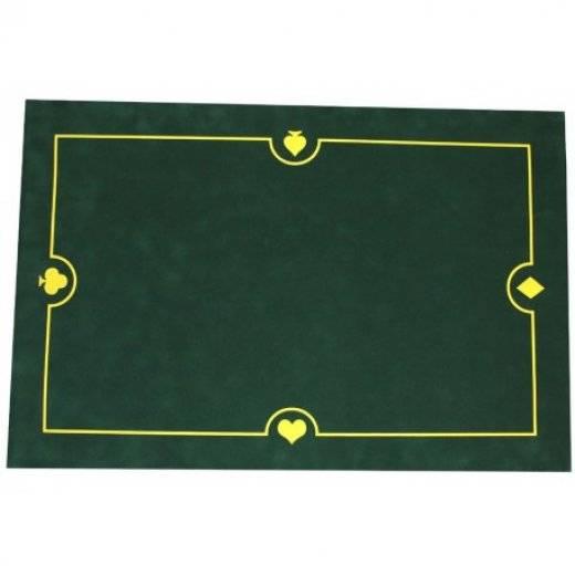 Tapis de carte en suedine lavable 40x60 vert