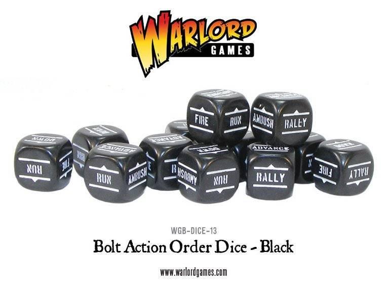 BA - Bolt action orders dice - Black