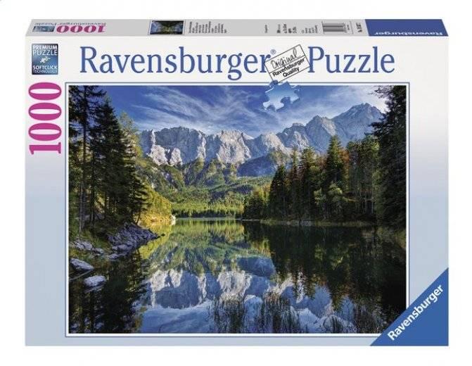 Ravensburger Puzzle - Vue du lac de l'Eisbee sur le sommet du Zugspitze