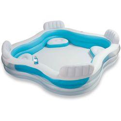 Intex Swim Center Family Lounge Piscina con asientos 229 x 229 x 66 cm (56475NP) - Piscinas