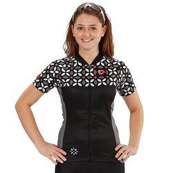 Pearl Izumi MTB LTD Women's Jersey flower pattern black/smoked pearl - Ropa de ciclismo