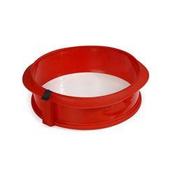 Lékué Molde desmontable de silicona con base de cerámica 23 cm - Moldes repostería