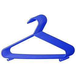 Bieco Set de 8 perchas de plástico azul - Accesorios dormitorio infantil