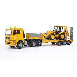Bruder MAN TGA camión góndola con excavadora (02776) - Vehículos a escala