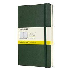 Moleskine Classic Notebook Hardcover Squared 240 pages myrte green - Cuadernos de notas