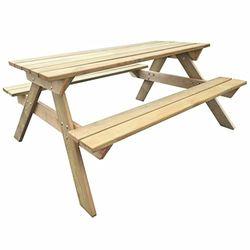 VidaXL Mesa de picnic de madera 150x135x71,5cm (41725) - Conjuntos muebles de exterior