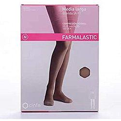 Farmalastic Media larga 140 DEN Compresión normal A-F beige Talla extra grande - Medias de compresión