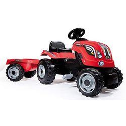 Smoby Tractor Farmer XL rojo con remolque (710108) - Vehículos a pedales