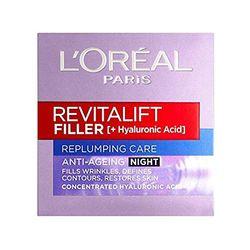 L'Oréal Crema de noche Revitalift Filler (50 ml) - Tratamientos faciales