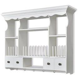 vidaXL Wall Cabinet Classic White Wood - Armarios de cocina