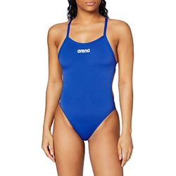 Arena Solid Lightech High Swimsuit dark blue (2A243-82) - Moda baño mujer