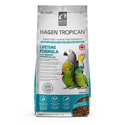 HAGEN Tropical Lifetime Parrot Granules 2 kg - Comida para pájaros