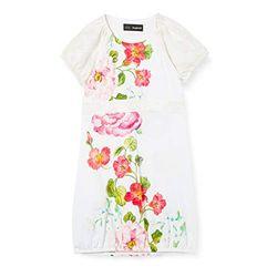 Desigual Vest Salamanca white - Faldas y vestidos para niña