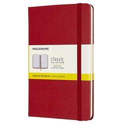 Moleskine Classic Notebook Medium Hardcover Squared 208 pages scarlet - Cuadernos de notas