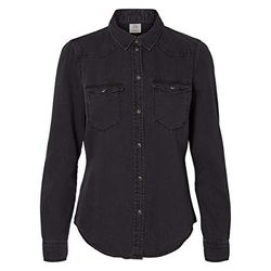 Vero Moda Maria Slim Fit Denim Shirt (10209106) black - Blusas