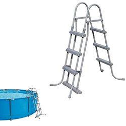 Bestway Escalera piscina 107 cm (58044) - Escaleras piscina