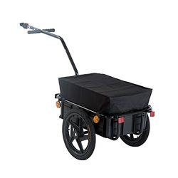 HomCom Cargo Trailer Black 40 kg - Remolques de bicicleta