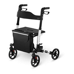 Uniprodo Rollator White - Sillas de ruedas y andadores