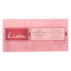 Lida Glycerin & Rose Hip Soap (3 x 125 g) - Productos para baño y ducha