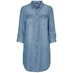 Vero Moda Shirt Dess (10184172) light blue denim - Vestidos