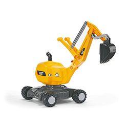 Rolly Toys rollyDigger Excavadora CAT con ruedas - Excavadoras para niños