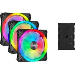 Corsair iCUE QL120 RGB PWM 120mm 3-pack - Ventiladores PC