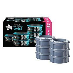 Tommee Tippee Refill cassette Twist & Click (x 6) - Contenedores de pañales