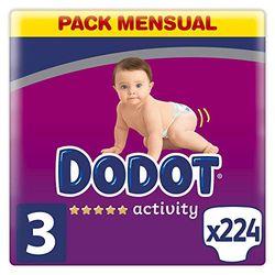 Dodot Activity Gr. 3 (6-10 kg) 224 pcs. - Pañales