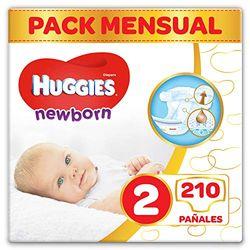 Huggies Newborn Baby Diapers für Neugeborene Size 2 210 Pcs - Pañales