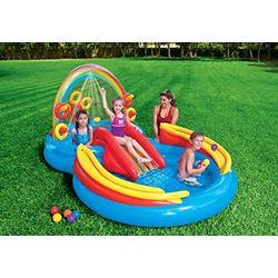 Intex Centro de juegos hinchable arcoiris (57453NP) - Piscinas infantiles
