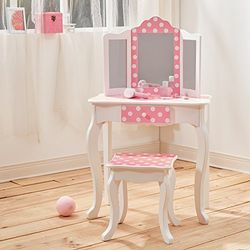 Teamson Dressing table with chair pink - Mesas infantiles