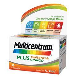 Pfizer Multicentrum Plus Ginseng & Ginkgo (30 comp) - Complementos alimenticios y vitaminas