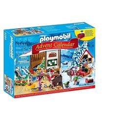 Playmobil Calendario de adviento Taller de Santa (9264) - Calendarios de adviento