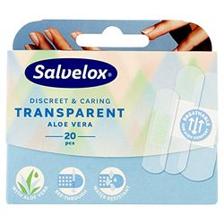 Salvelox Transparent aloe vera (20 uds.) - Vendas y apósitos
