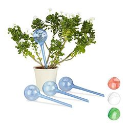 Relaxdays Set of 4 Watering Bulb Blue - Sistemas de riego