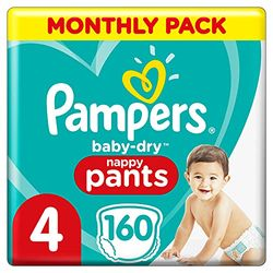 Pampers Baby Dry Pants Junior Talla 4 Maxi (9-15 kg) - Pañales