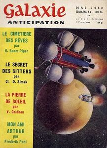 Galaxie (1ère série) n° 54 de Henry Beam PIPER, Clifford Donald SIMAK, Volsted ou Vorsted GRIDBAN, Fritz LEIBER, Richard MATHESON, Frederik POHL, Allan GEORGE, Lloyd Jr BIGGLE, Frank Malcolm ROBINSON, Jimmy GUIEU, Evelyn E. SMITH, Willy LEY, Jean DUZAL ()