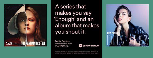 Spotify Premium 订阅方案,自动免费开通 Hulu 会员