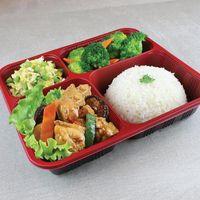 1016 Diced Chicken & Mushrooms Rice Set 香菇鸡丁饭套餐